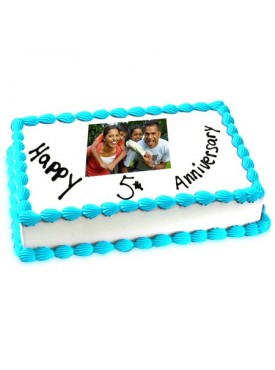 5th Anniversary Photo Cake 2kg