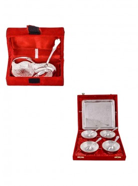 Mini Duck Tray with Spoon and 4 Flower Bowl with Spoon and Tray