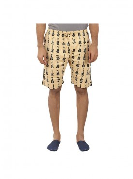 Mens Beige Color Shorts