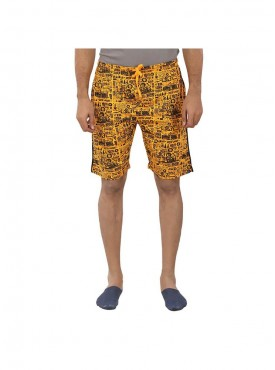 Mens Flame Orange Color Shorts