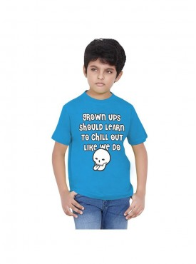 Tantra Kids Turquoise Color T-Shirt Crew Neck