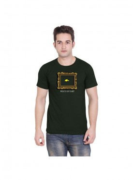 Tantra Mens Army Green Color T-shirt