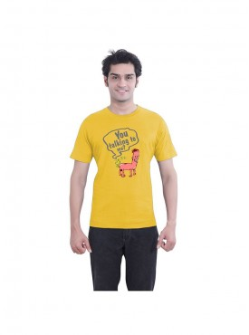 Tantra Mens Butt Tal Yellow T-shirt