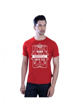 Tantra Mens Red Color T-shirt