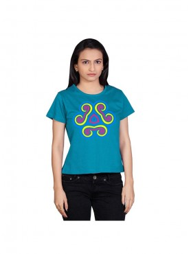 Tantra Women Printed T-shirt Crew Neck