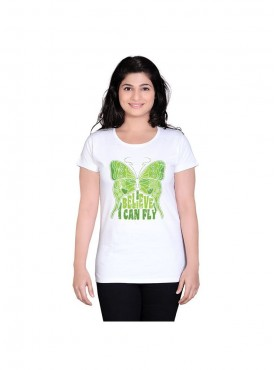 Tantra Women White Can Fly Longtees