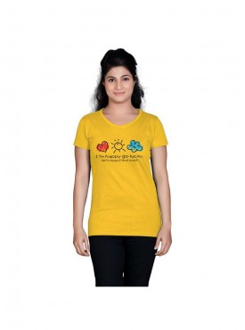 Tantra Women Yellow Happy Go Lucky Longtees