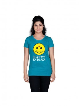 Tantra Women Turquoise Happy Indian Longtees