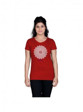 Tantra Women Red Cosmic Star Longtees