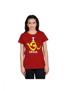 Tantra Women Red Om India Longtees