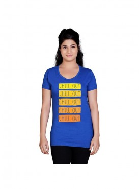 Tantra Women Royal Blue Chill Out Longtees