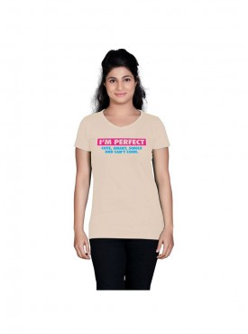 Tantra Women Beige Perfect Longtees
