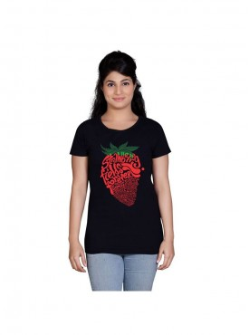 Tantra Women Black Strawberry Longtees