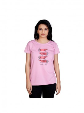 Tantra Women Light Pink 4 Cats Longtees