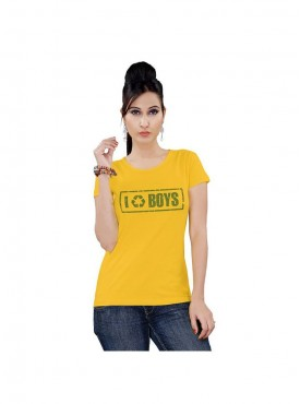 Tantra Women Yellow Recycle Boys Longtees
