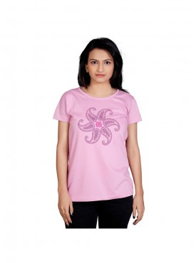 Tantra Women Light Pink Girls Club Longtees