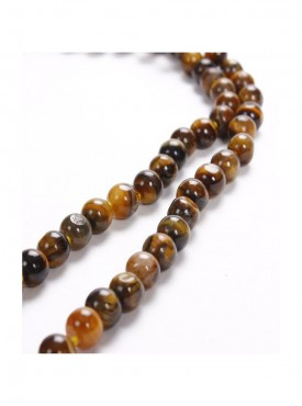 Natural Tiger Eye Knotted Mala