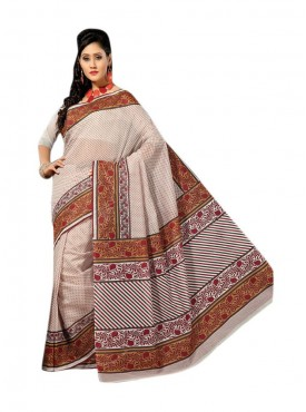Beige Color Saree