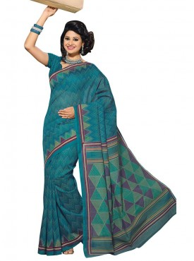 Blue Color Saree