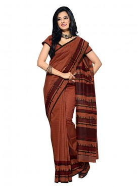 Brown Color Saree