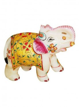 Marble elephant with fine quality work in size