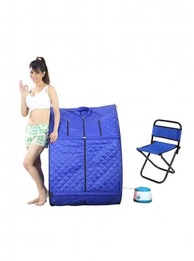 Portable Steam and Sauna Bath and Portable Folding Outdoor Fishing Camping Chair Combo