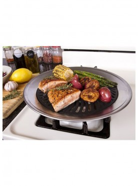 Kawachi Smoke Free Bbq Barbecue Grill Plate For Roast