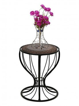 Batra Home Decor Wood Iron Table For Living Room.