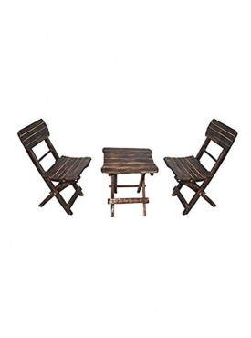 Batra Associates Antique Wooden Two Chairs And One Tabe Set
