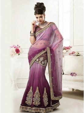 Wine Shaded Color Saree