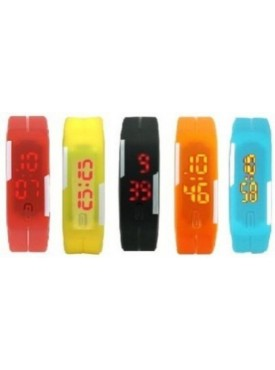 APG LED RUBBER MAGNET RED YELLOW BLACK ORANGE BLUE Digital Watch - For Boys, Girls, Men, Women