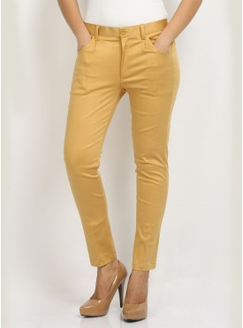 Beige Formal Pants