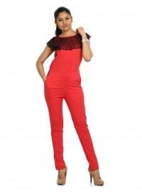 Red Jump Suit