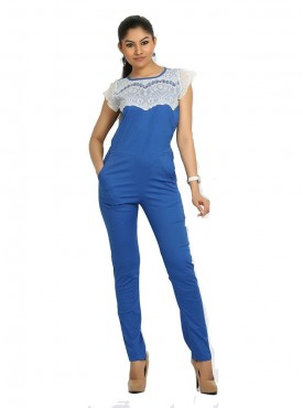 Royal Blue Jump Suit