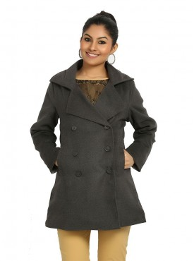 Grey Wollen Long Coat