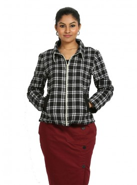 Black White Check Jacket