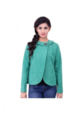 Green Band Coller Coat