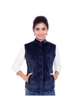 Royal Blue Quilted Jacket