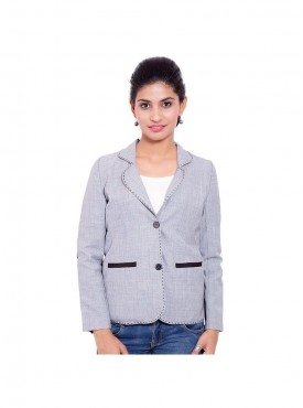 Grey With Black Patch Coat