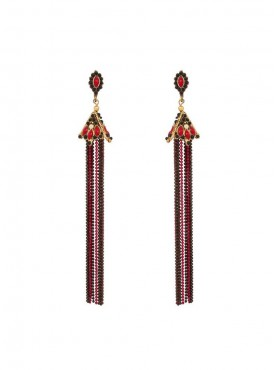 Majesty Black and Red Stylish Earrings