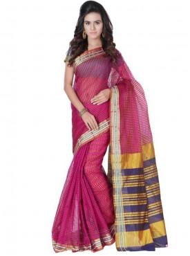 Fabulous Pink and Blue Designer Saree