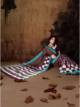 Ideal Brown Designer Saree