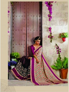 Lovely Grey and Pink Designer Saree