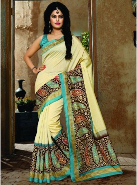 Excellent Beige Designer Saree