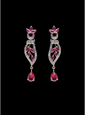 Exquisite Pink Stylish Earrings