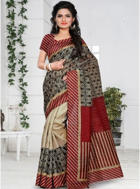 Marvelous Multi and Red Color Designer Saree