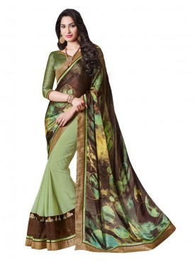 Indian Women Crepe Jacquard Multicolor Saree