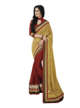 Indian Women Awesome Brasso Saree