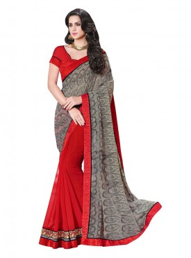 Indian Women Nett Jacquard Multicolor Saree