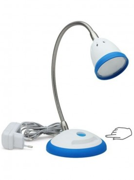 Renata LED Desk Light - Illumina- Touch Dimer - Cool White Light-Blue